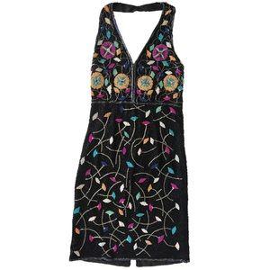 Dresses & Skirts - Vintage Floral Beaded Halter Dress
